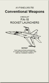 Mc Donnell Douglas F / A 18  Aircraft  - Conventional Weapons - Checklist  Rocket Launches  - A1-F18AE-LWS-750