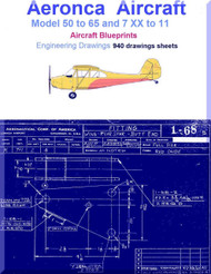 Aeronca Aircraft 50 to 65 and 7 XX to 11 Blueprints Engineering Drawings - Download