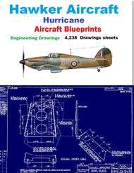 Hawker  Aircraft Hurricane Aircraft Blueprints Engineering Drawings on DVD