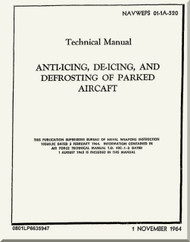 Technical Manual -  Anti-Icing, De-Icing, and Defrosting of Parked Aircraft     - NAVAIR 01-1A-520