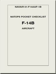 Grumman F14 B NATOPS Pocket Checklist  Manual NAVAIR   01-F14AAP-1B