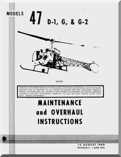 Bell helicopter 47 d1 maintenance overhaul manual 1969 image 1 malvernweather Gallery