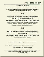 Boeing Helicopter AH-64 A Aviation Unit and  Intermediate Maintenance Repair Parts and Special Tools List Manual - TM 1-8145-476-23P