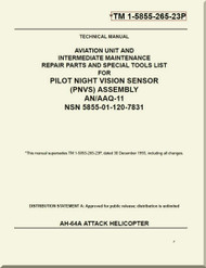 *        Boeing Helicopter AH-64 A Aviation Unit and  Intermediate Maintenance Repair Parts and Special Tools List Manual - TM 1-5855-265-23P