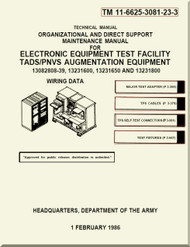 Boeing Helicopter AH-64 A Aviation  Organizational and Direct Support Maintenance  Manual - Electronic Equipment Test Facility TADS / PNVS Augmentation Equipment  - TM 11-6625-3081-23-3