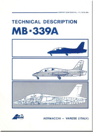 Aermacchi MB-339 A Aircraft Technical Brochure  Manual - 1982 -  ( English Language ) P.I. TO-01-386A