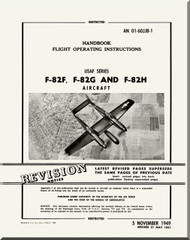 North American Aviation F-82 F, G and H Aircraft Flight Manual 01-60JJB-1 - 1949