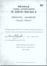 Beagle B.206  S- Series Aircraft Turbo - Supercharged  Operating Handbook  Manual