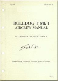 BAe / Beagle / Scottish Aviation Bulldog  T Mk.1 Aircraft Aircrew  Manual -