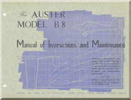 Auster Model B.8 Aircraft  Instructions and Maintenance Manual