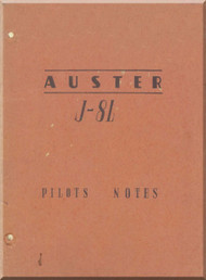 Auster J-8L Aircraft Pilot's Note Manual