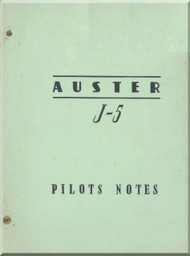 Auster  J-5 Aircraft Pilot's Note Manual