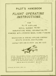 Boeing  XL-15 * Scout *  Aircraft Pilot's Handbook Flight Operating Instructions  Manual  -