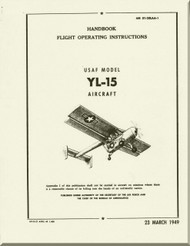 Boeing  YL-15 * Scout *  Aircraft  Handbook Flight Operating Instructions  Manual  -  AN 01-20LAA-1 -1949