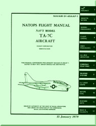 "LTV / Vought TA-7C "" Corsair II  ""  Aircraft Flight  Manual 01-45AAF-1 - 1979"
