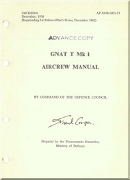 Foland Gnat T  Mk 1 Aircraft  Aircrew  Manual -  ( English Language ) - AP 101B-1801-15