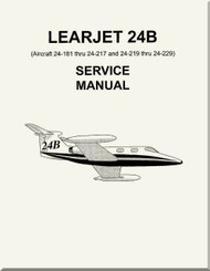 Learjet 24  B  Series Aircraft Service Manual