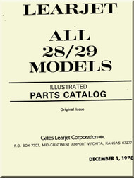 Learjet 28 / 29 Series Aircraft Illustrated Parts Catalog  Manual