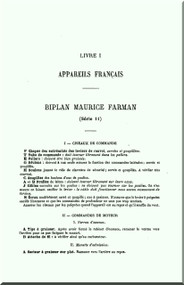 Maurice Farman MF.7 Longhorn   Aircraft Technical Manual  ( French Language )
