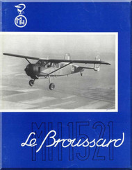 Max Holste Avions M.H. 1521 Aircraft Brochure  Manual ( French Language ) ,