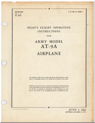 Curtiss AT-9  Aircraft Pilot's Flight Operating Instructions  Manual 01-25KB-1