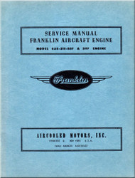 Franklin 6AB-215-B8F,B9F Aircraft Engine Service Manual