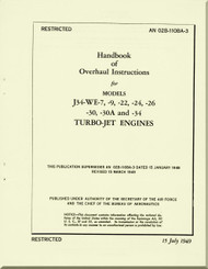 Westinghouse J34-WE- 7, -9, -22, -24, -26, , -30, -30A and -34 Aircraft Engine Overhaul Manual