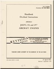 Pratt & Whitney J-48  P-5,-5A and -P-7 Aircraft Engine Overhaul Instructions   Manual 02B-10BB-3 - 1953
