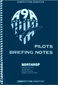 Northrop A-9A  Aircraft Pilots Briefing Notes   Manual