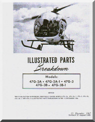 Bell Helicopter 47 G-2A , G-2A1, G-3 , G-3B, G-3B-1 Illustrated Parts Catalog  Manual  - 1967