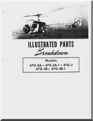 Bell Helicopter 47 G-2A , G-2A1, G-3 , G-3B, G-3B-1 Illustrated Parts Catalog  Manual  - 1977