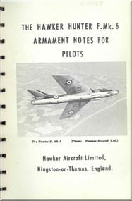 Hawker Hunter F.Mk.6  Aircraft  Armament Pilot's Notes Manual