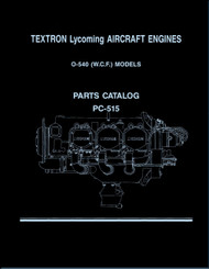 Lycoming O-540 ( W.C.F. ) Aircraft Engine Parts Manual   PC-515