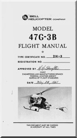 Bell Helicopter 47 G-3B Flight  Manual - 1961