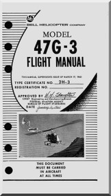 Bell Helicopter 47 G-3 Flight  Manual  - 1961