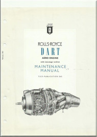 "Rolls Royce "" Dart ""   Aero  Aircraft Engine Maintenance   Manual  T.S.D.  262"