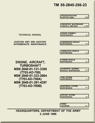 *  GE T-700-GE-700 Aircraft Turbo Shaft Engine IAviation Unit and Aviation Intermediate  Maintenance Manual TM 55-2840-256-23
