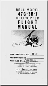 Bell Helicopter 47 G-3B-1 Flight  Manual - 1963