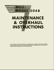 Bell Helicopter 204 B  Maintenance & Overhaul Instructions  Manual -