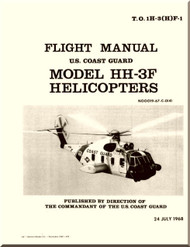 Sikorsky  Pelican HH-3F Helicopter Flight Manual   , T.O.  1H-3(H)F-1  -1968