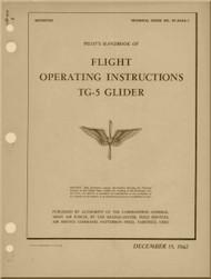 Aeronca  TG-5  Glider Aircraft  Operating  Instructions  Manual  - 1942