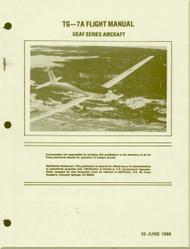 Schweizer Aircraft  TG-57A  Glider   USAF Flight Manual  - 1966