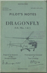 Westland - Sikorsky Dragonfly H. R. Mks 3 & 5  Helicopter Pilot's Notes Manual A.P. 4301 C & E-PN