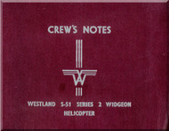 Westland - Sikorsky S.51  Series 2 Widgeon Helicopter Crew's Notes  Manual