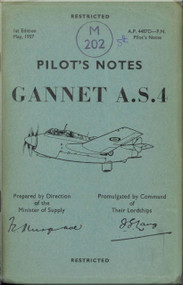 Fairey Gannet A..S. 4 Aircraft  Pilot's Notes Manual - A.P.. 4487D-PN