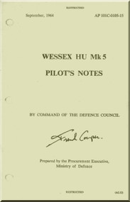 Westland Wessex HU Mk.5 Helicopter Pilot's Notes Manual  - AP 101C105-15 - 1964