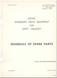 Rotol / Supermarine Swift  Aircraft  Accessories Drive Equipment Manual  Schedule of Spare Parts  AP 224 A