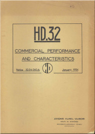Avions Hurel - Dubois HD.32   Aircraft  Commercial Performance and Characteristics  Manual