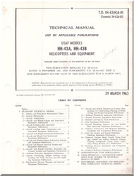 KAMAN HH-43 A,B  Helicopter List of Applicable Publications   Manual - T.O. 1H-43(H)A-01-1963
