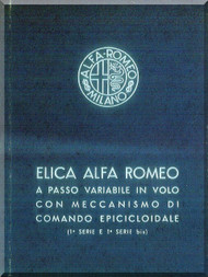 Alfa Romeo Aircraft Propeller Maintenance Manual - Elica - Manutenzione